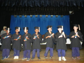 Grade R learners graduating to go to