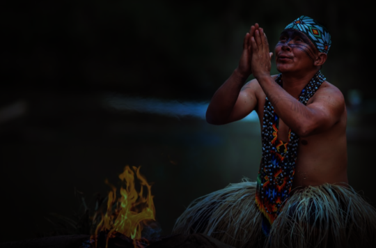 Yawanawa Elder praying