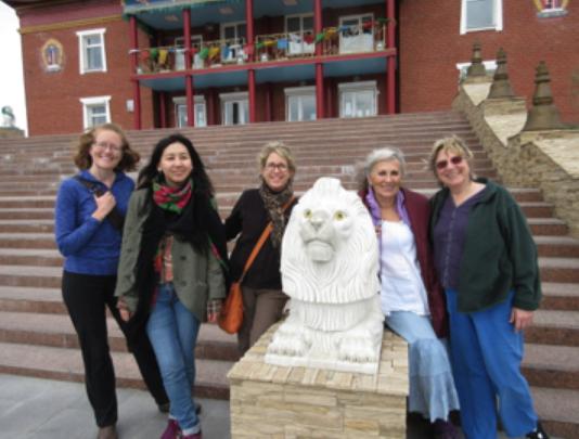 Buddhist temple in Siberia (White Lion presence)!