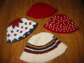 Hats Produced on a Foot-Loom