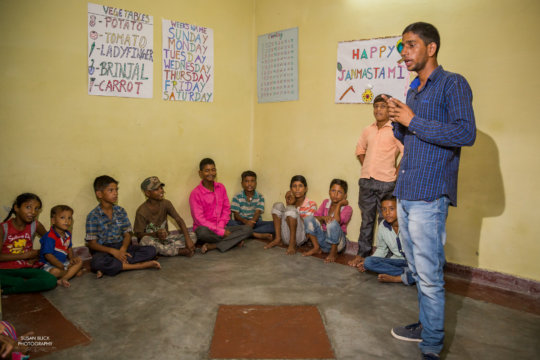 More than 100 children attend classes everyday