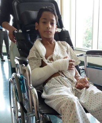 Ashish in recovery mode after surgery