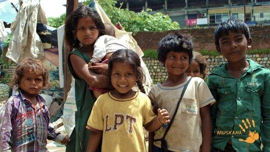 Children from Bindal Slum