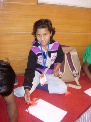 Chandni attending Street Smart program