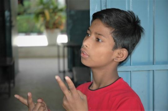 Deepak using sign Language
