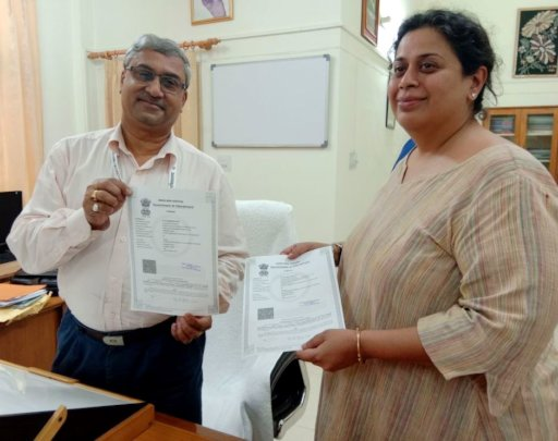 Shaila Brijnath with State Project Director, SSA