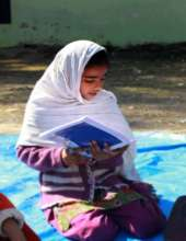 Tamanna reading at Aasraa's Learning Centre