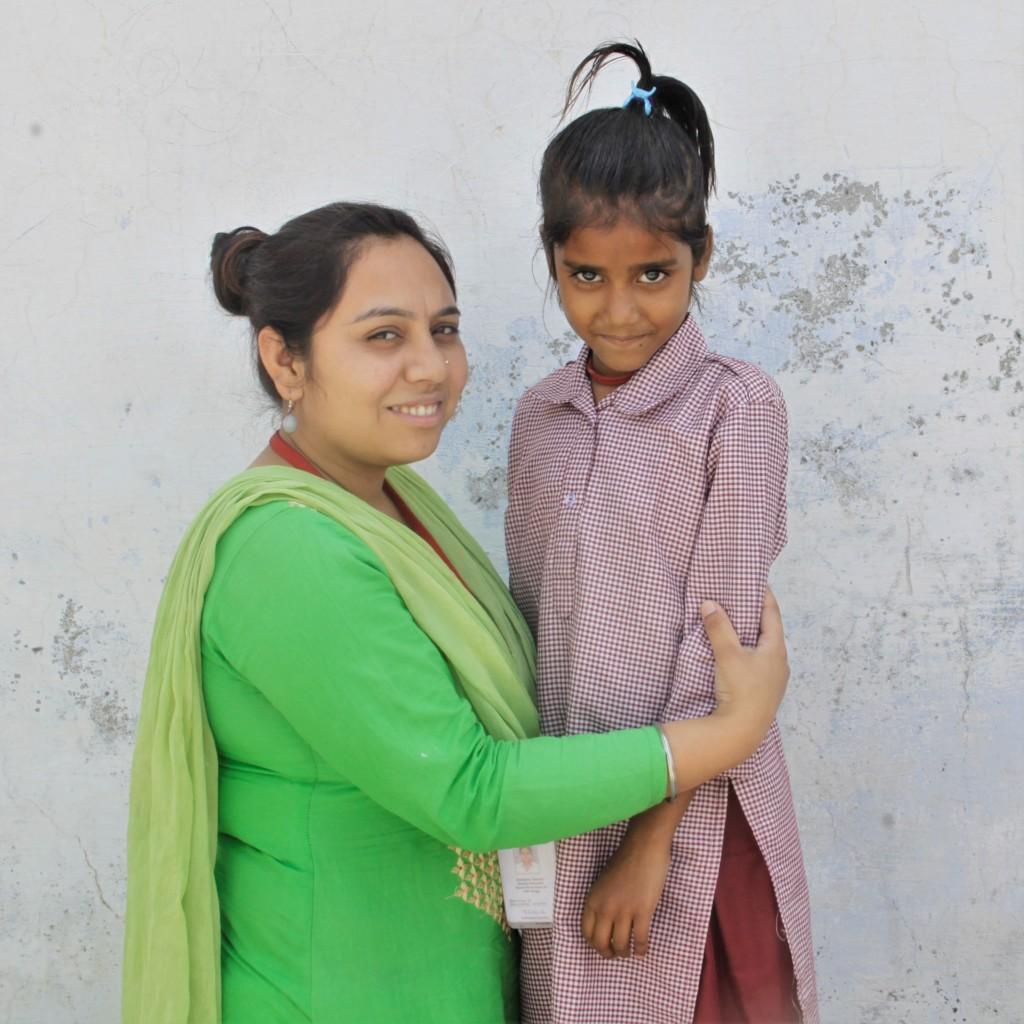 Radhika with her favourite teacher