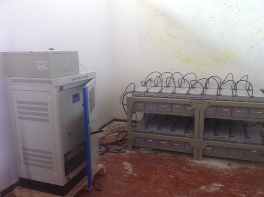Solar batteries and power inverter