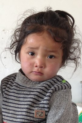 Daughter of our new midwife at Ayang Gompa Clinic