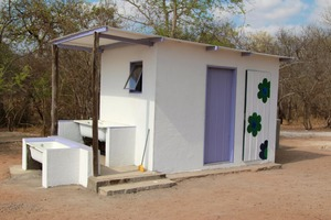 Ablution block for the staff