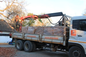 Delivery of bricks from BUCO