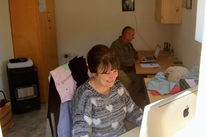 Michele and Ian in their new office