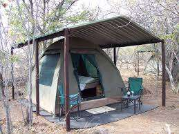 Example of the tented platforms we wish to build