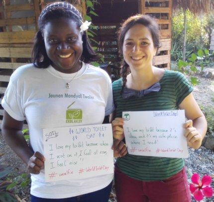 Herlande and Marion's #WorldToiletDay #unselfies