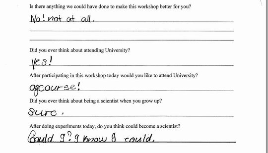 Feedback from one of our primary students