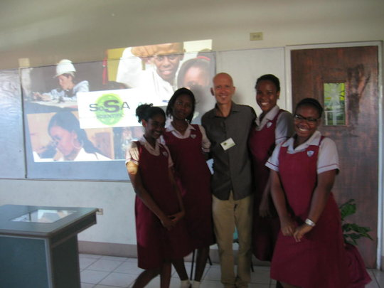 Dr. Picking and students from St. Andrew High