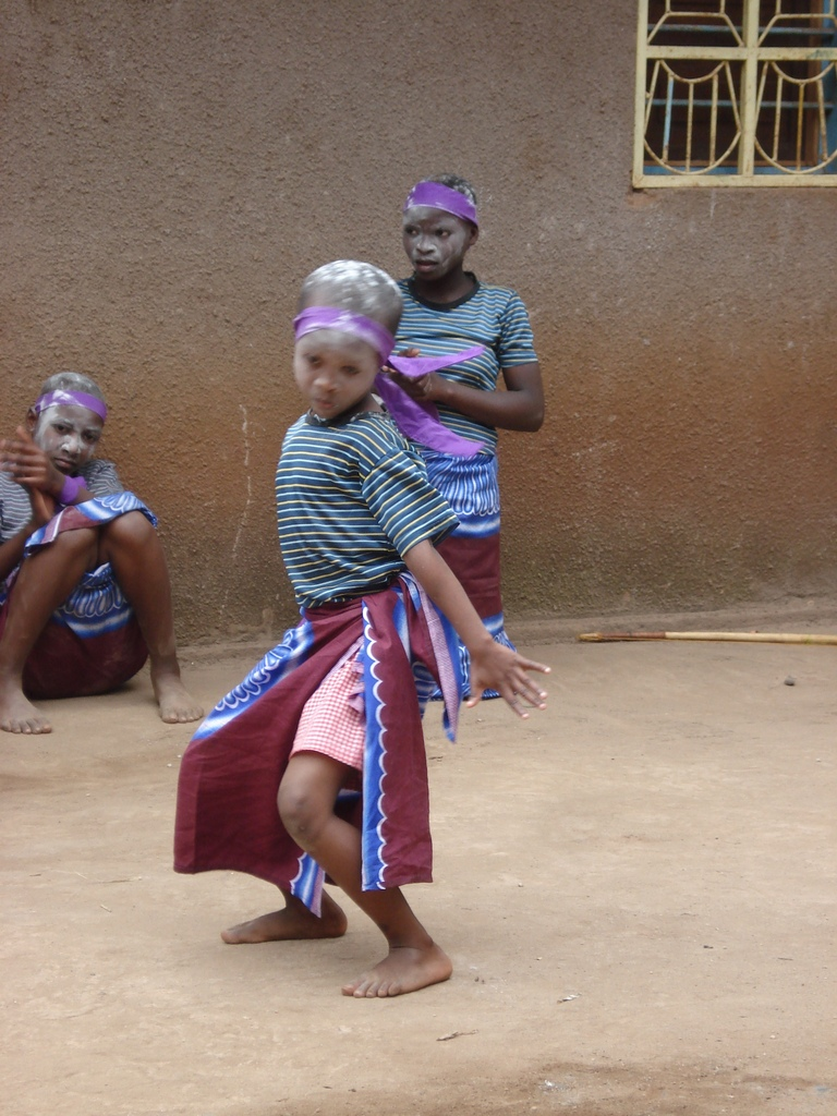 Children enjoying themslves despite the hardship and trauma