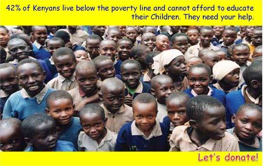 Educate slum child in Kenya.