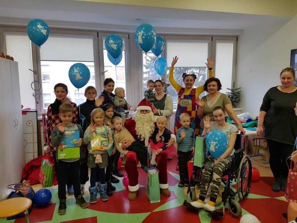 Santa Claus visited hospital