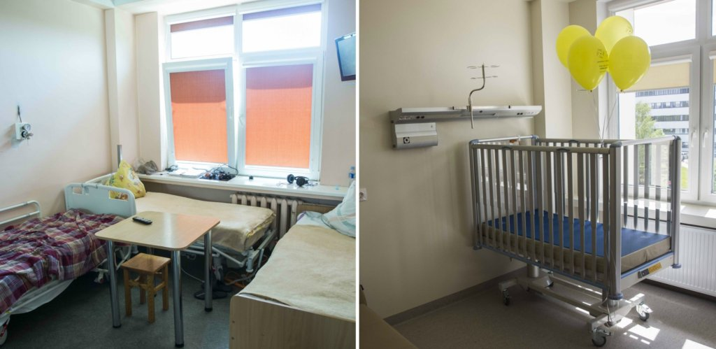 hospital ward before and after repair
