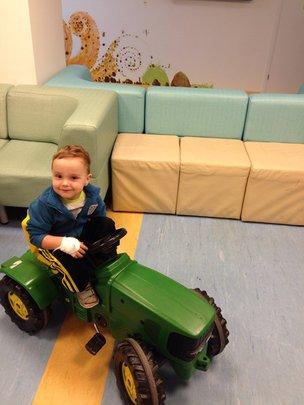 Two-year old boy Maximiliano