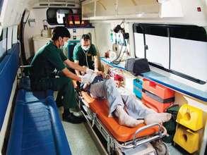 Inside the Aman Ambulance - Doctors and Paramedics