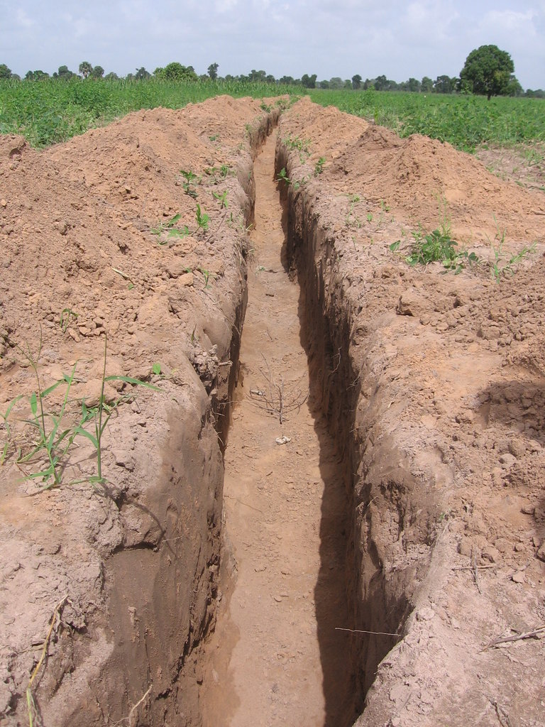 200m Trench for Water Dug by Community