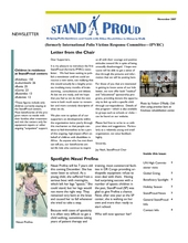 New StandProud Newsletter with Phenomenal Photos (PDF)