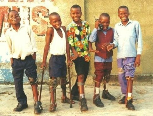 Unselfconscious brace wearers in Kinshasa