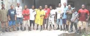 The Kinshasa brace shop staff