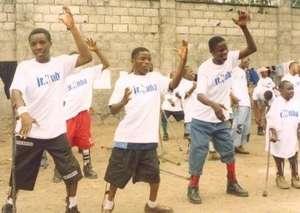 Dancing at the IPVRC rehabilitation home