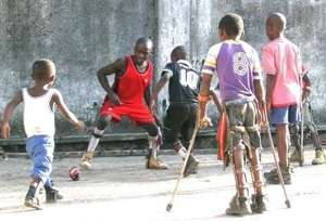 Afternoon soccer at an IPVRC rehabilitation home