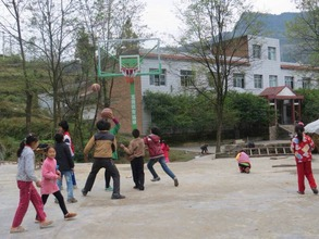 New playground and basket ball frame