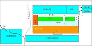 New school building and playground layout