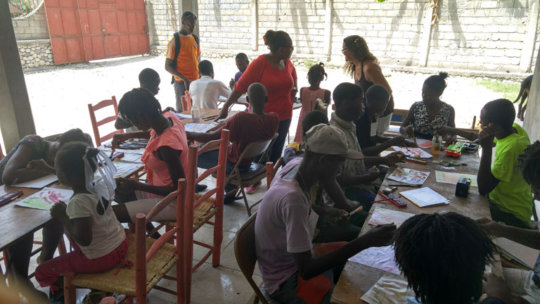 Art Therapy workshop at Transitional Safehouse