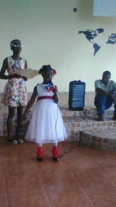Reciting a poem at Haiti Flag Day celebrations