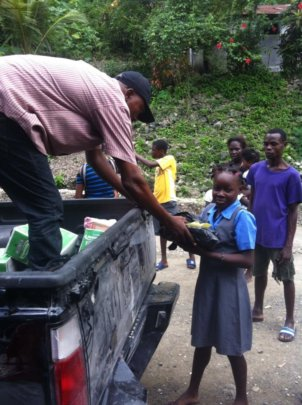 School supplies for children in Jeremie