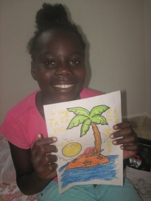 Tafayou and her special coloring for her sponsor