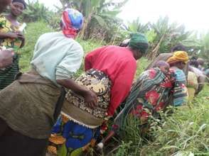 Beneficiaries women heading to Field