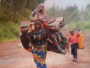 Returned displaced widow woman