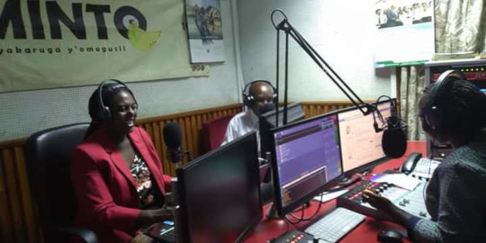 Media outreach at Minto FM, Kenya