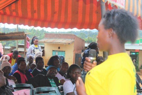 Sali speaking on challenge of teenage pregancies