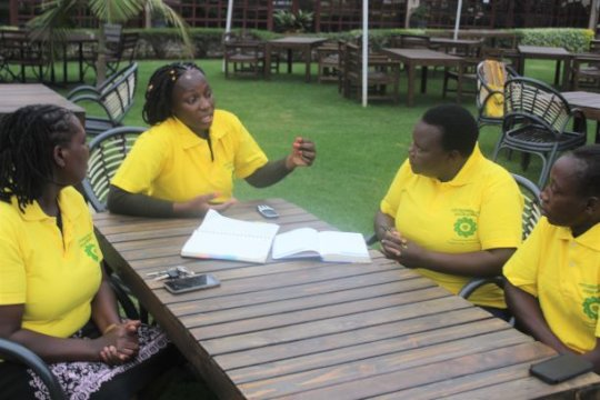 HFAW Team and representative of CHHRP strategizing