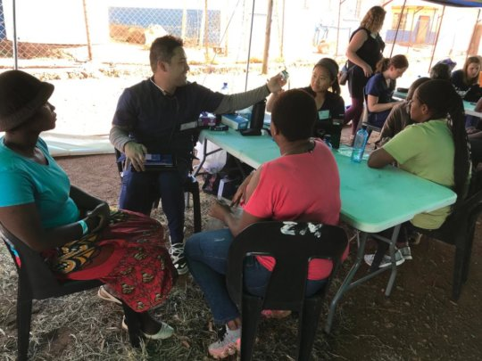 """An """"under the tent"""" community clinic"""