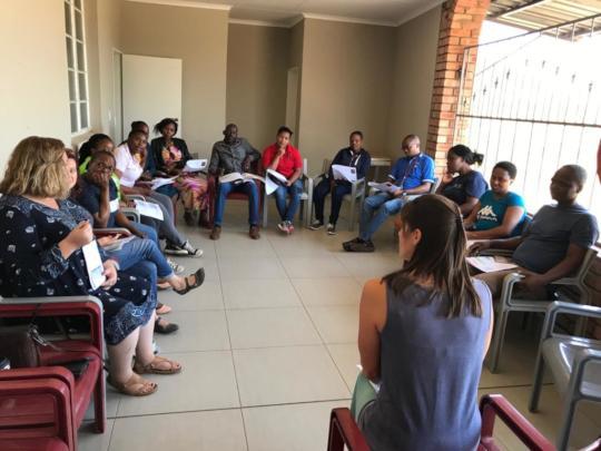 Staff training on Trauma Healing
