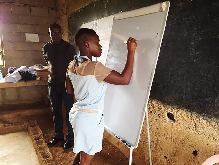 Alida in our Tutoring Program in 2017