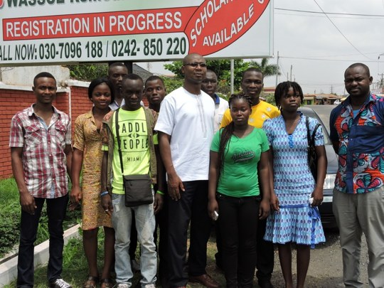 Students with Dr. Okantey