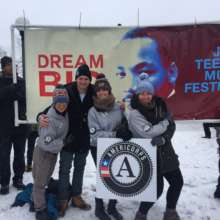 AmeriCorps members guided Dreamers this MLK Day.
