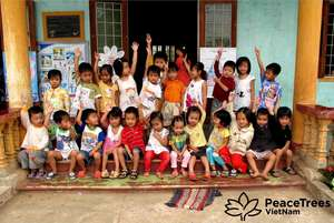 Kindergarten students at the Trieu Dong School